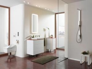 Японский минимализм в ванной комнате