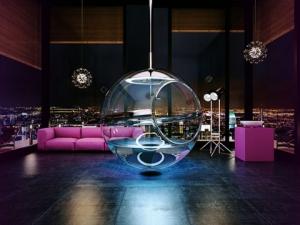 Новый образ сантехники: ванная — стеклянный шар