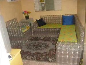 Кухонная мебель из пластиковых бутылок
