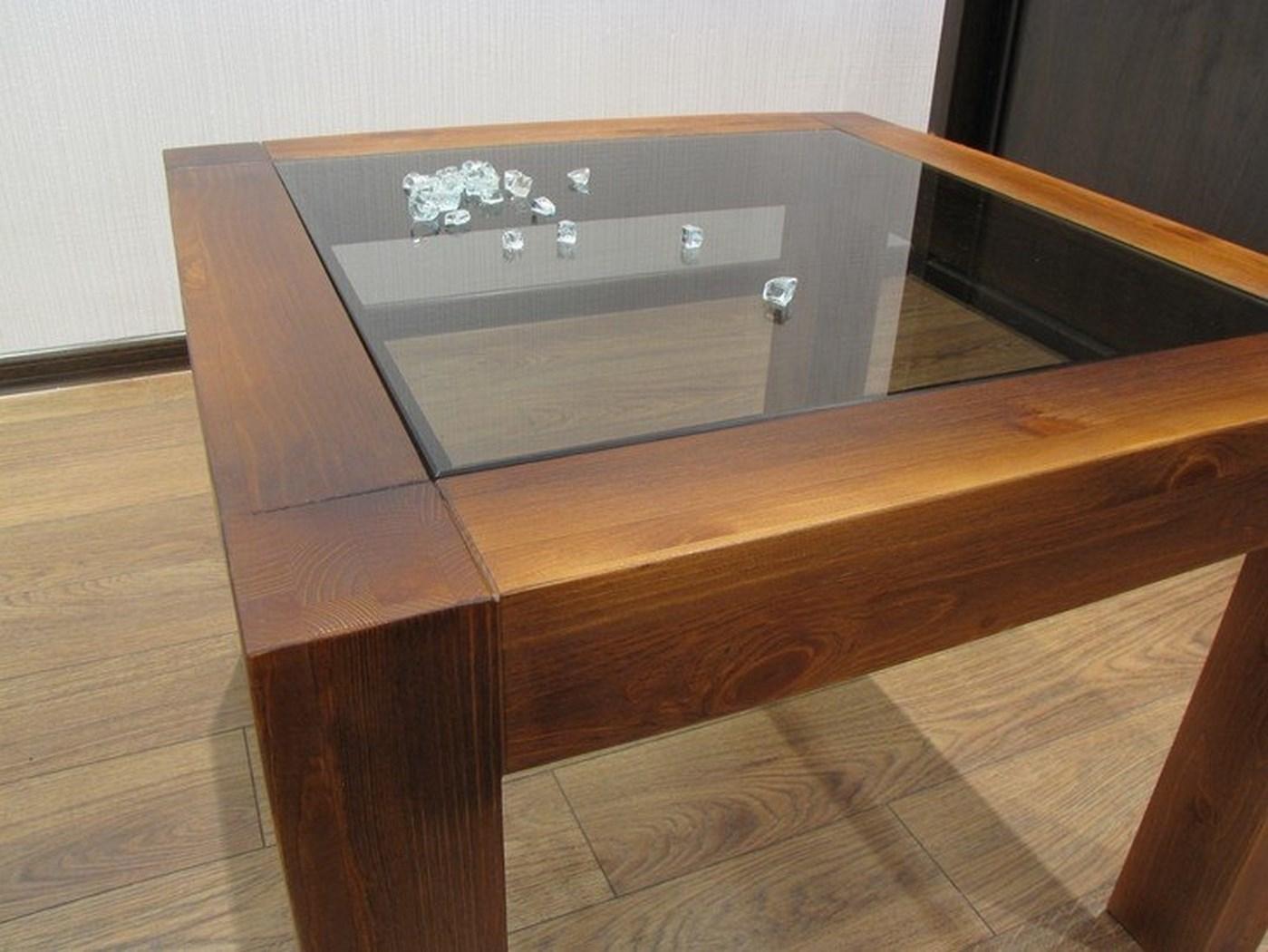 Журнальный столик с стеклянной столешницей своими руками