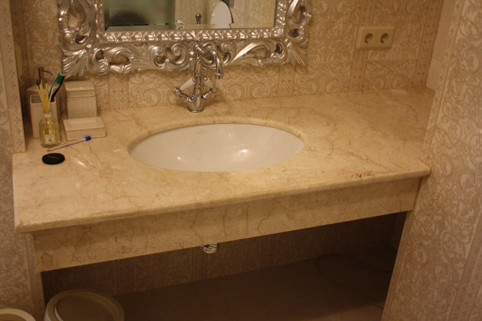 Столешница для ванной комнаты с тумбами столешница es 725