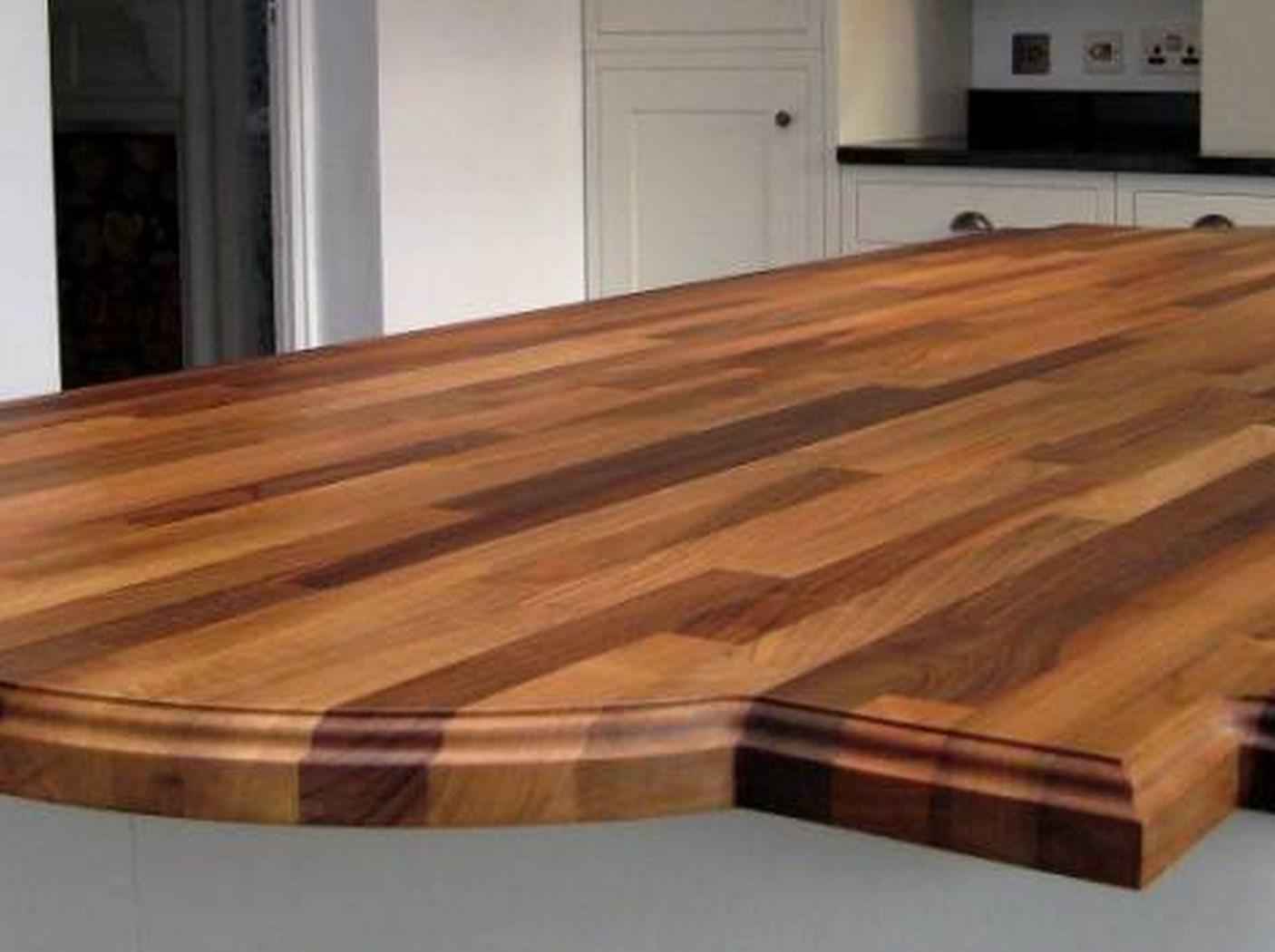 Деревянная столешница на кухне mebli24.