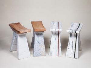 Табуреты из мрамора — практичность и изысканность